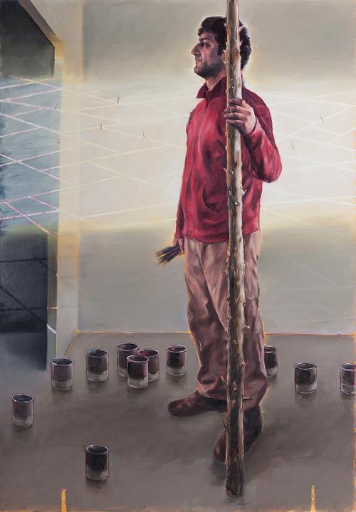 Der Maler, Öl auf Leinwand, 2012