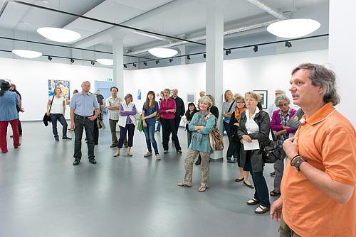 Künstlerführung Ausstellung Akt am 23.6.2013 im Kunsthaus Troisdorf